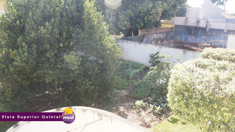 Vista superior do quintal