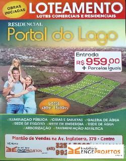 Comprar, terreno no bairro residencial portal do lago na cidade de cambé-pr